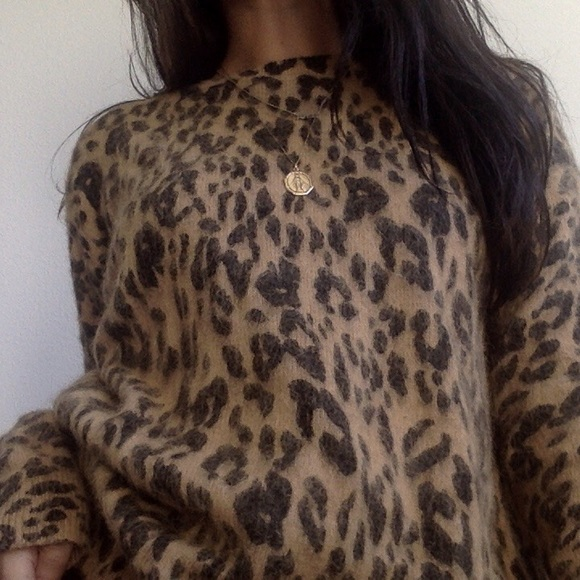 bef60a4504 Opening Ceremony Sweaters | Cheetah Print Fur Sweater | Poshmark